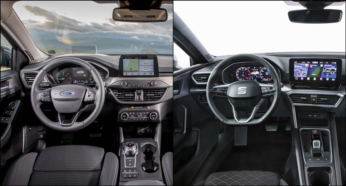 Ford Focus o Seat León Interior