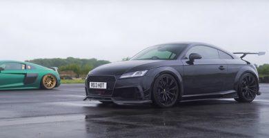 Audi TT RS ABT vs Audi R8 V10