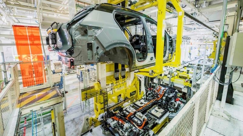 producción del Volvo XC40 Recharge
