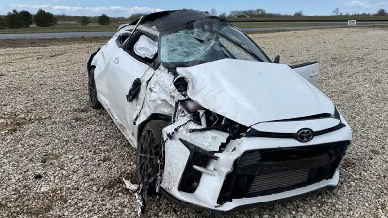 Accidente Toyota GR Yaris